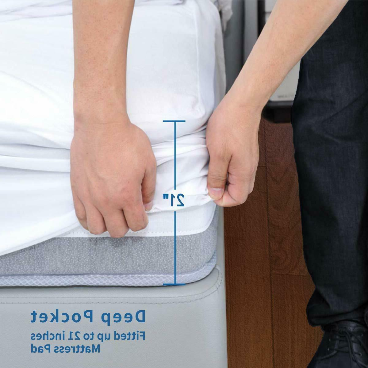 2'' Extra Topper Cooling Cotton Mattress Pad 400 Top