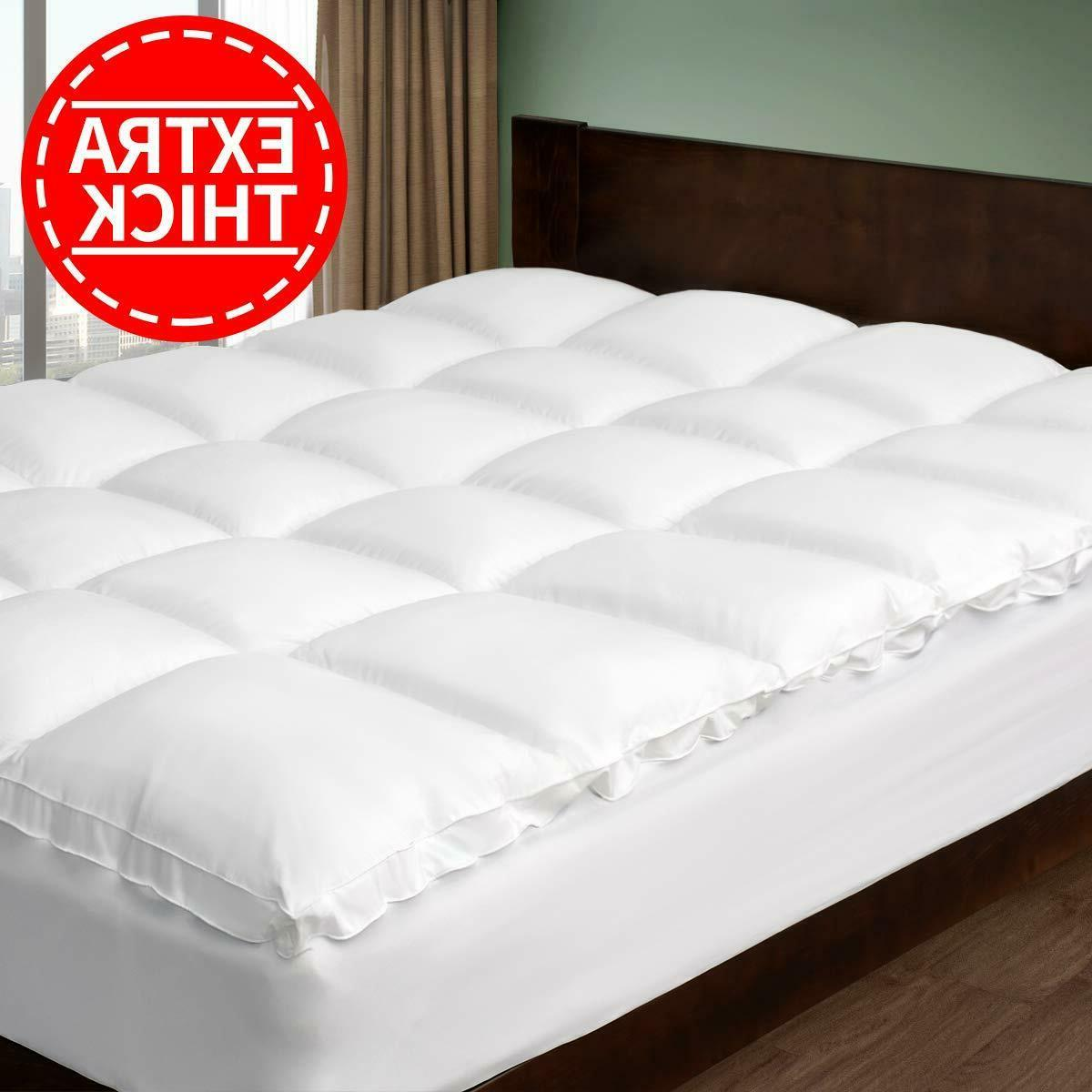 2 extra thick mattress topper cooling cotton