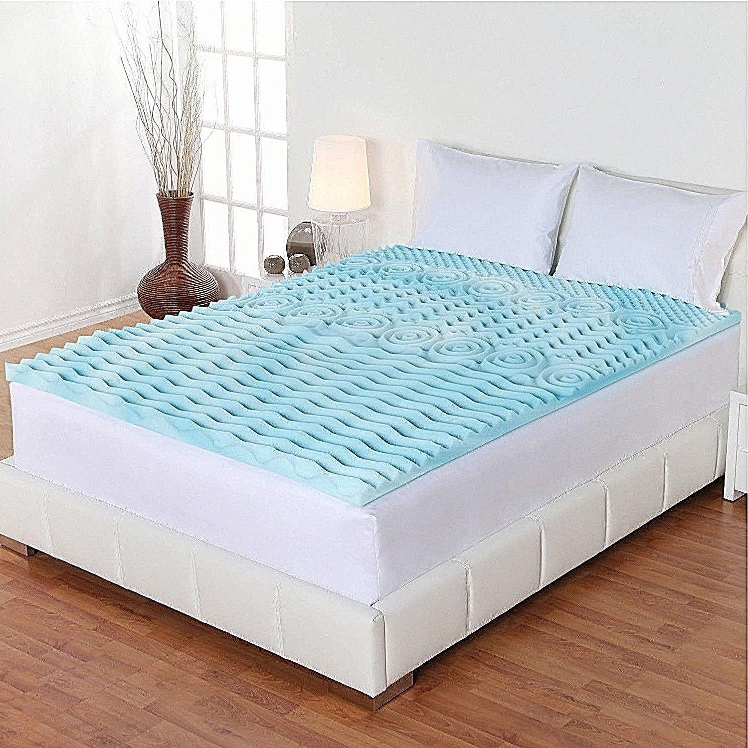 "2"" Orthopedic Memory Foam Mattress Pad Topper Cover Firm Bed"
