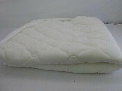 2 piece bamboo mattress pad memory foam topper double thick
