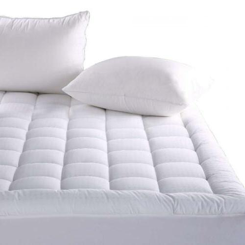 Balichun Fitted Quilted Mattress Pad Cover  -...