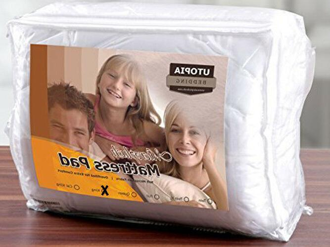 NEW KING SIZE MATTRESS PAD MICROPLUSH QUILTED PLUSH OVERFILL