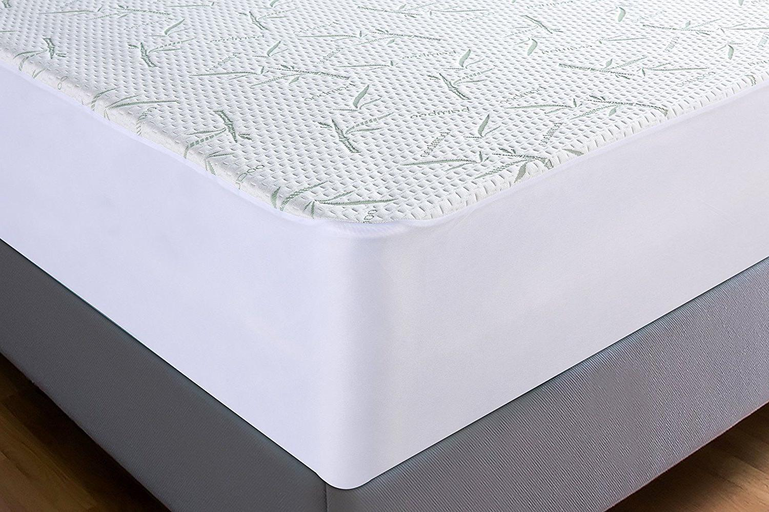BAMBOO Mattress Protector Soft Hypoallergenic Cover Pad