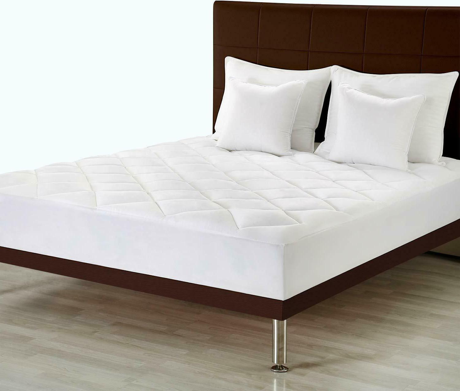 Cal King Quilted Mattress Pad Fitted Mattress Topper Utopia