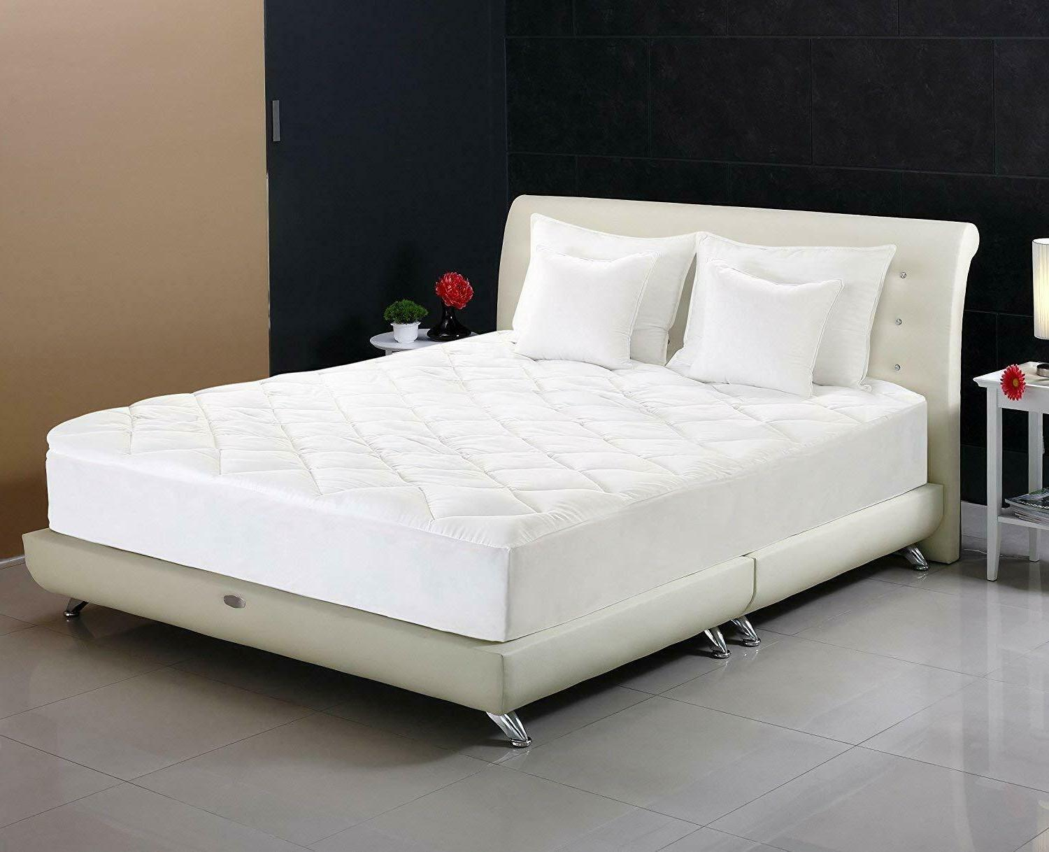 Quilted Mattress Pad Fitted Mattress Topper Cal King Utopia