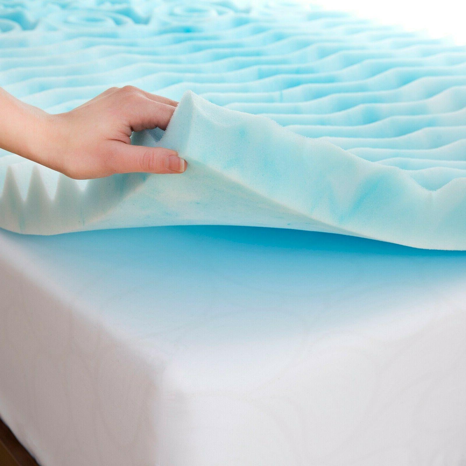 QUEEN Size Foam Mattress Topper 3 Inch Gel Orthopedic Pad Co