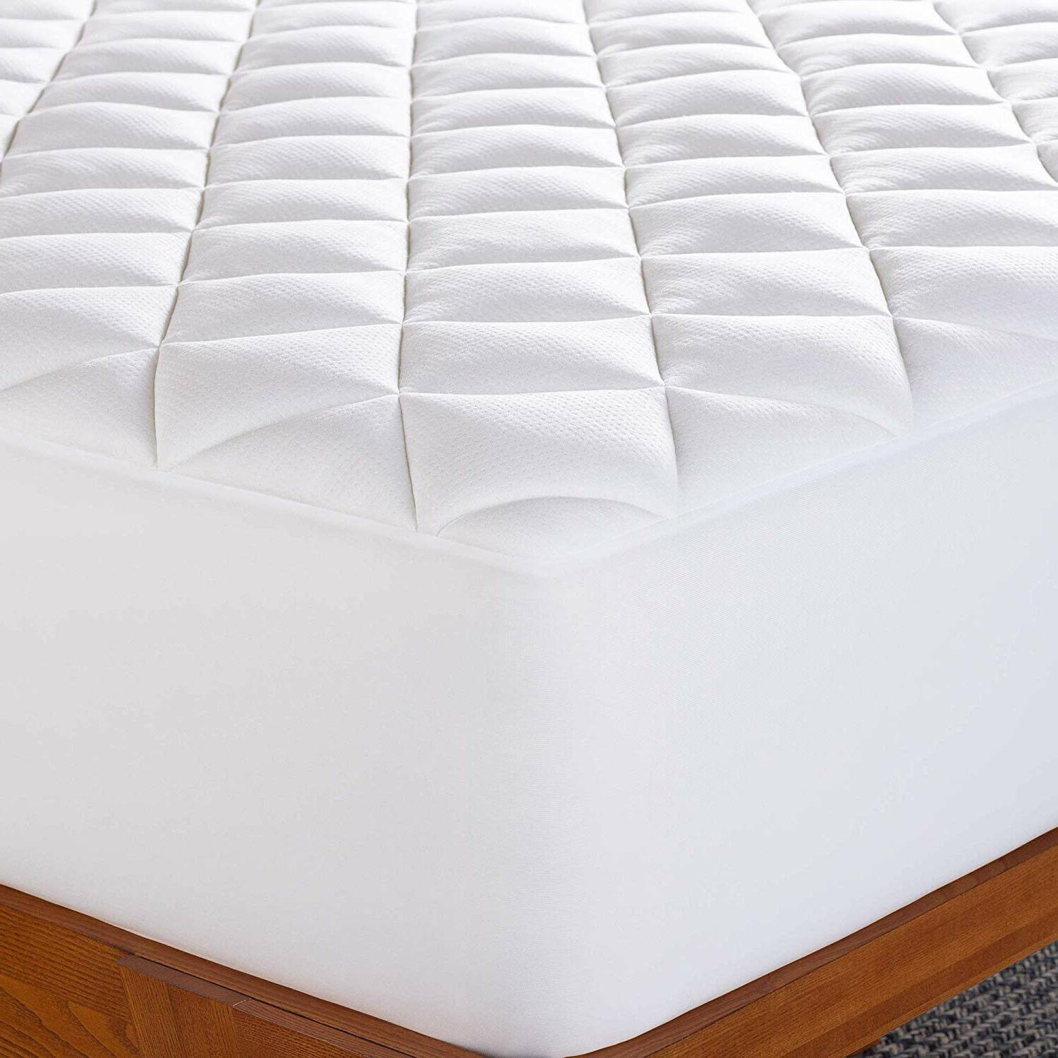 Cooling Bamboo Pad Ultra-Plush Breathable Mattress Topper