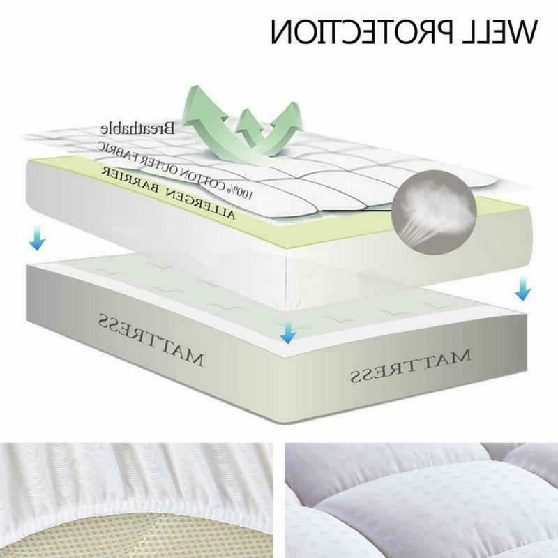 Easeland Fitted Pad -Pillow Top Mattress Cover