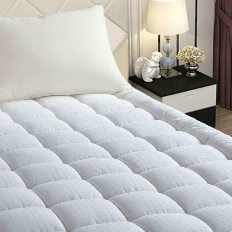easeland quilted fitted mattress pad queen pillow