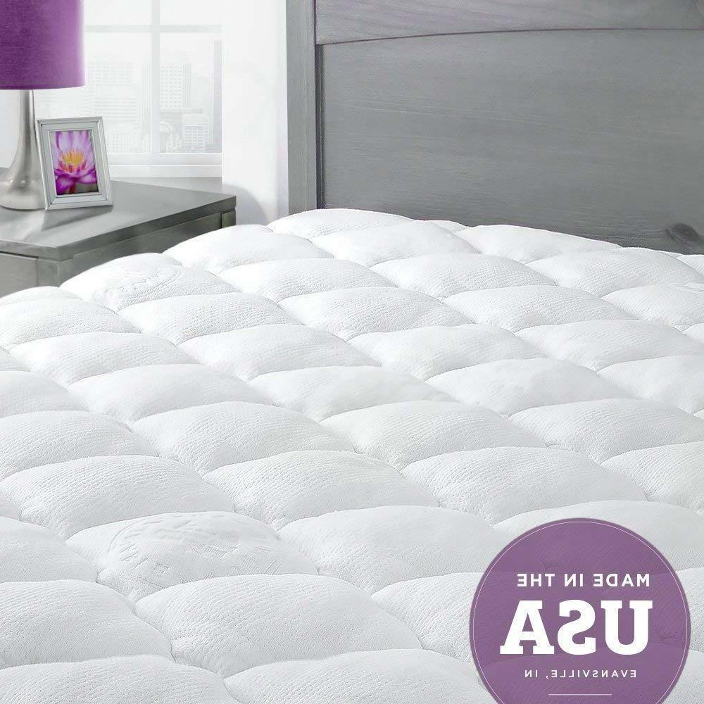 extra plush bamboo mattress pad with fitted