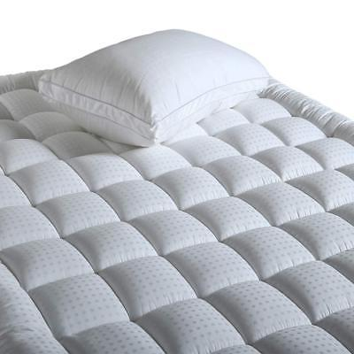 Balichun Fitted Quilted Mattress Pad Cover  - Luxurious