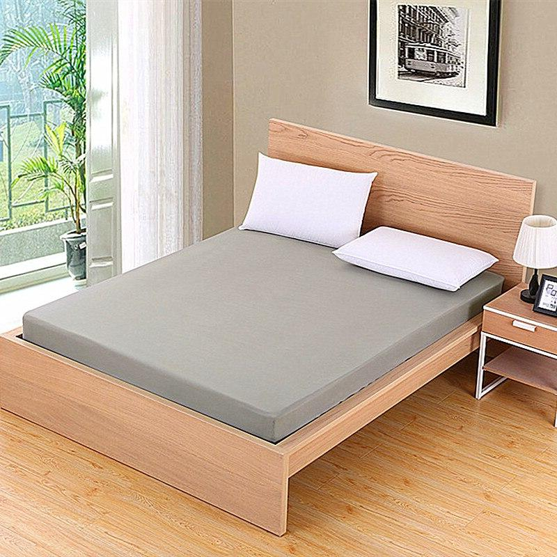<font><b>Solid</b></font> color Mattress Cover Bed With Band Protector 100%Polyester Size