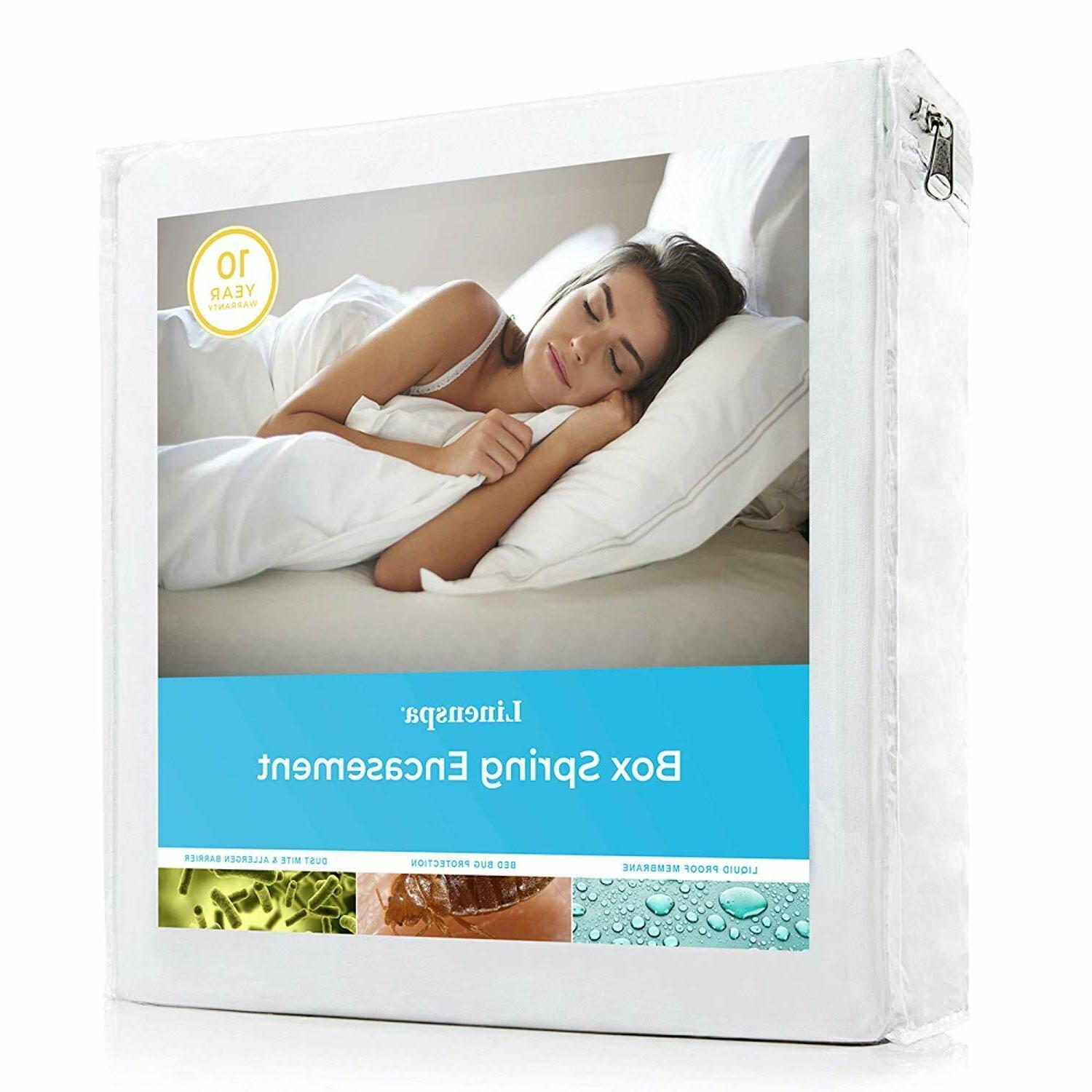 Hypoallergenic Mattress Protector Box Spring Encasement Cove