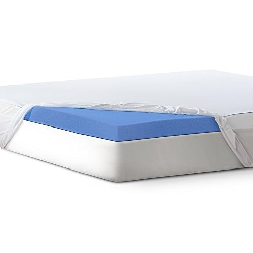 Serta 3 Lasting Dream Plus Gel-Infused Memory Foam Mattress Topper Full
