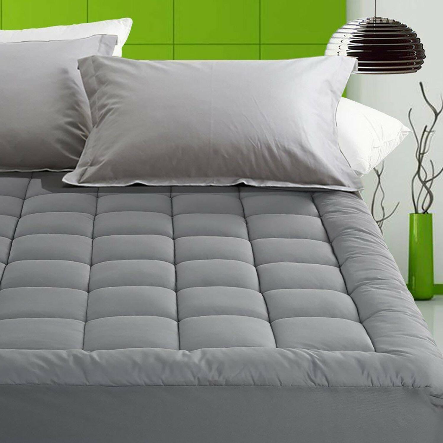 luxury deep pocket mattress pad fitted quilted