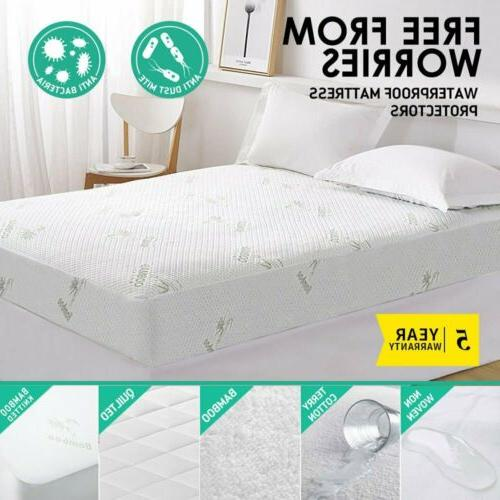 Luxury Mattress Cover Protector Waterproof Pad All Size Bed