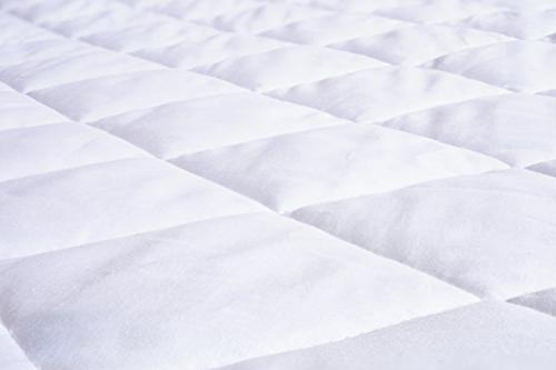 """Abit Comfort Quilted queen up 20"""" deep soft white cotton-poly"""