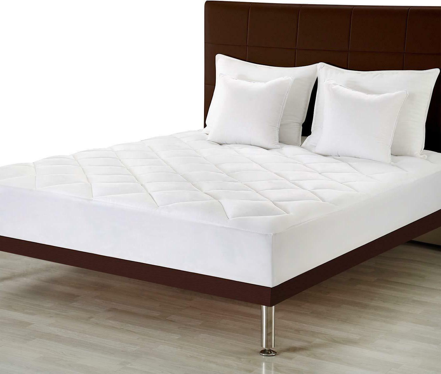 Premium Mattress Pad Quilted Fitted Mattress Topper Stretche