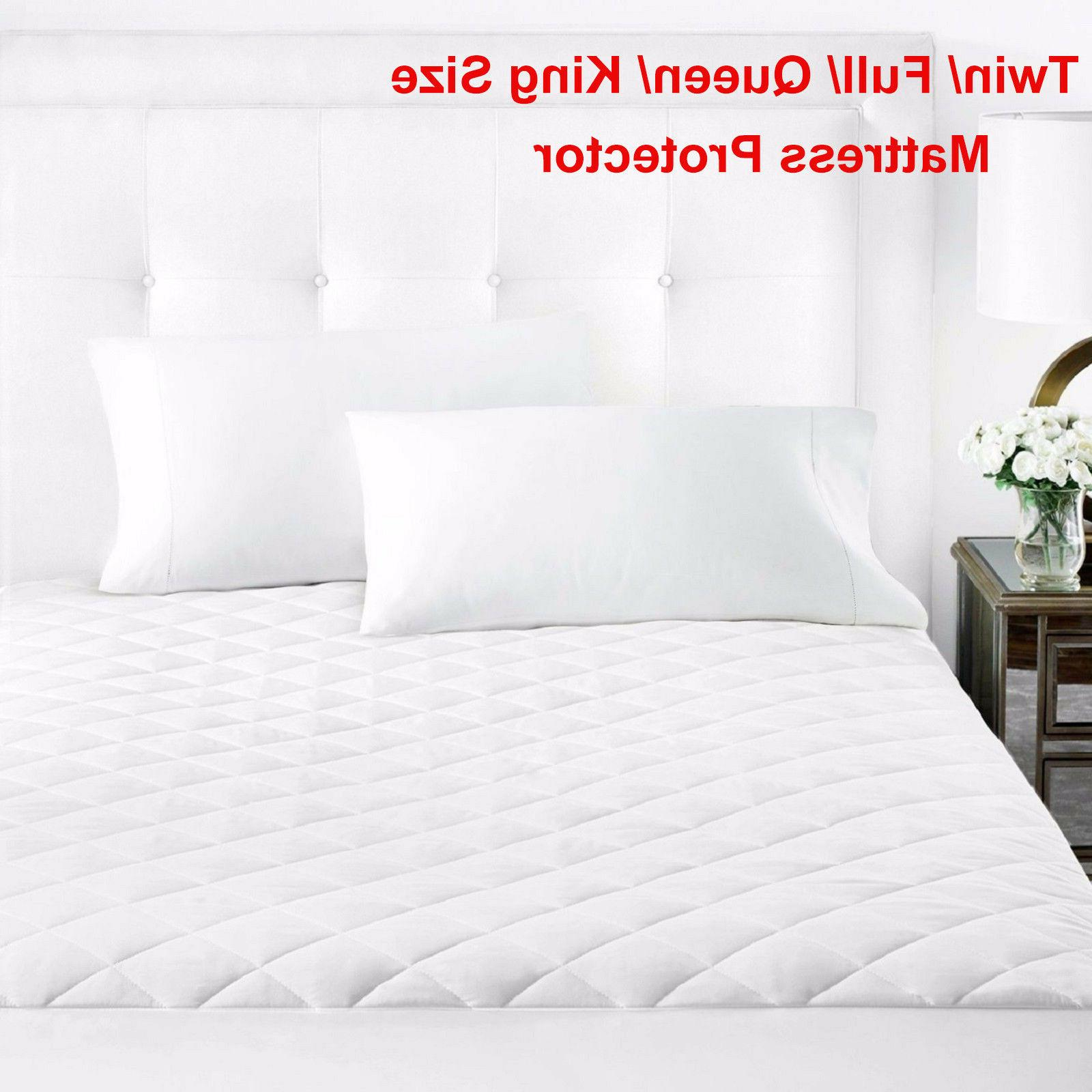 Mattress Cover Protector Topper Quilted Pad Fitted Top Bed C