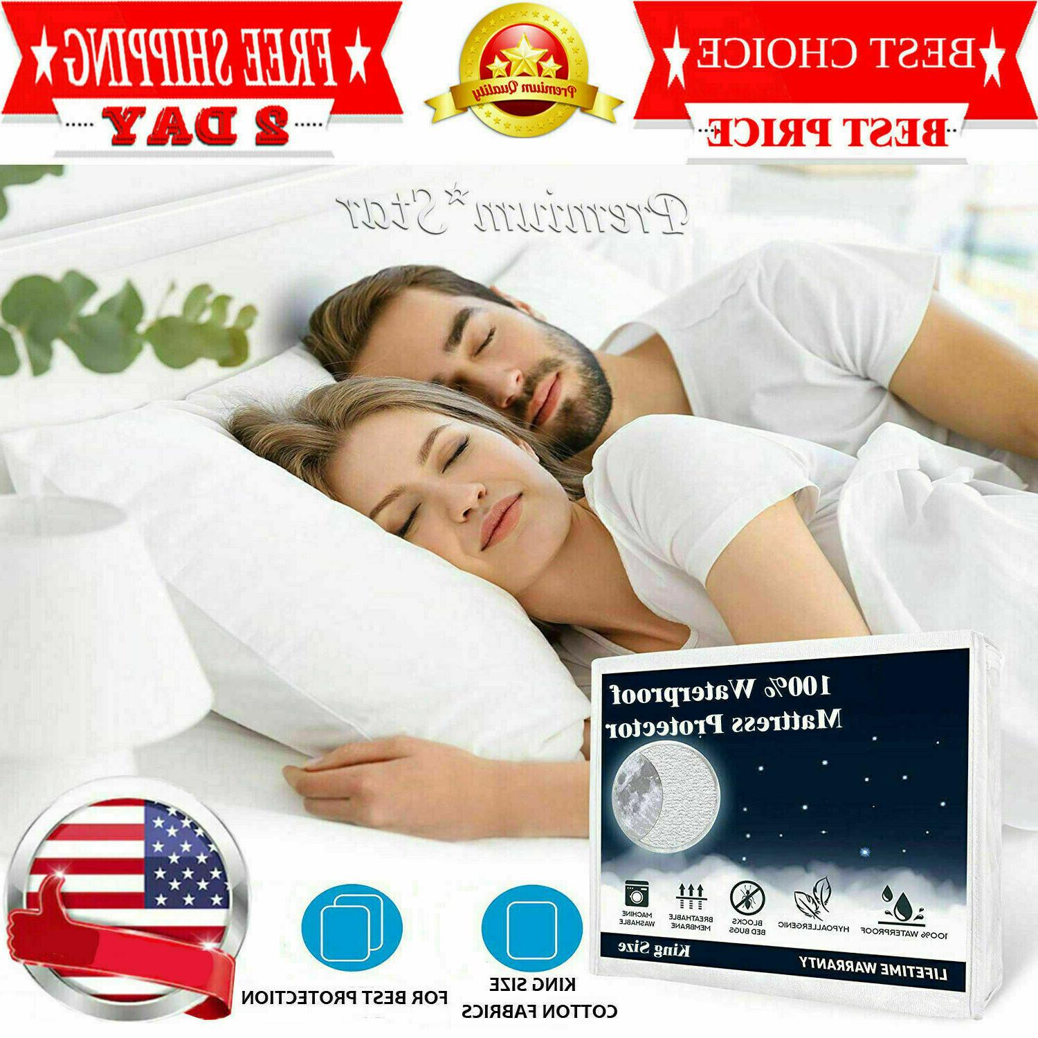 mattress cover protector waterproof pad king size