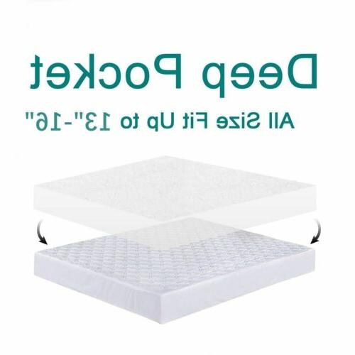 Mattress Protector Pad Queen Bed Cover Hypoallergenic