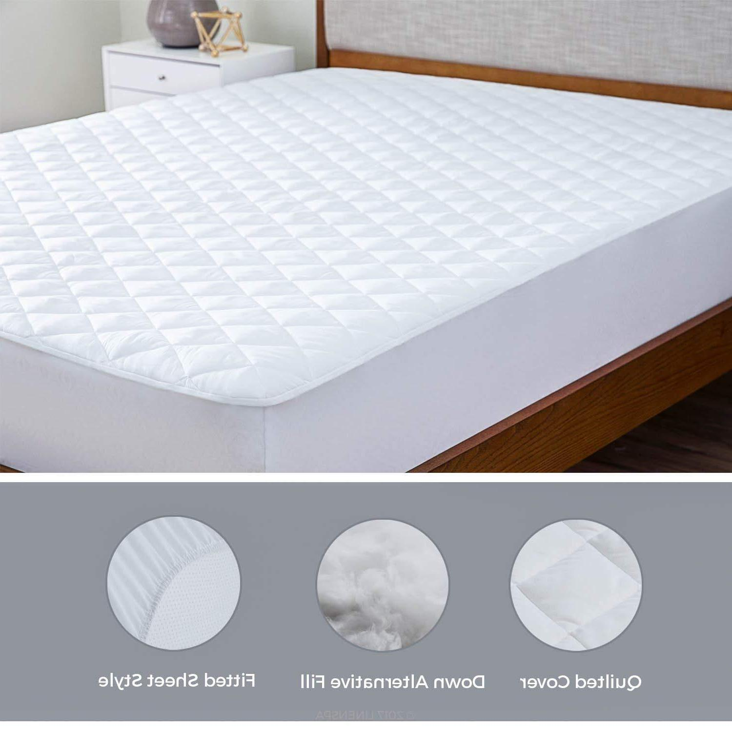 Mattress Cover Quilted Fitted Pad - Lux Decor Collection