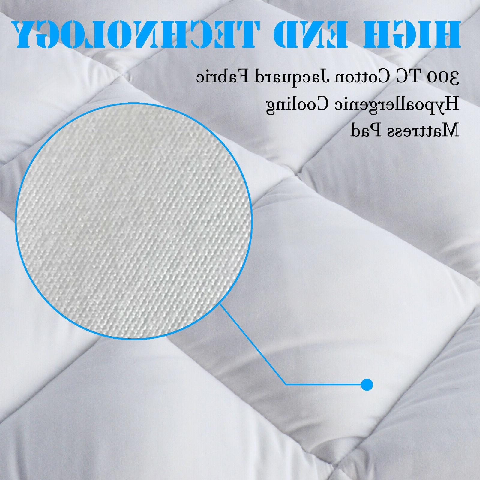 Mattress Protector Hypoallergenic Sheet Quilted Topper