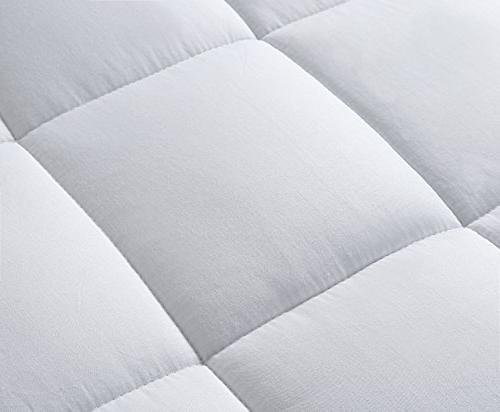 Mattress Cover-Cotton with Stretches to Deep Pocket Fits Up to Cooling Bed