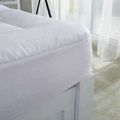 Mattress Pad Cover-Cotton Top with Deep Pocket Fits to Cooling Bed