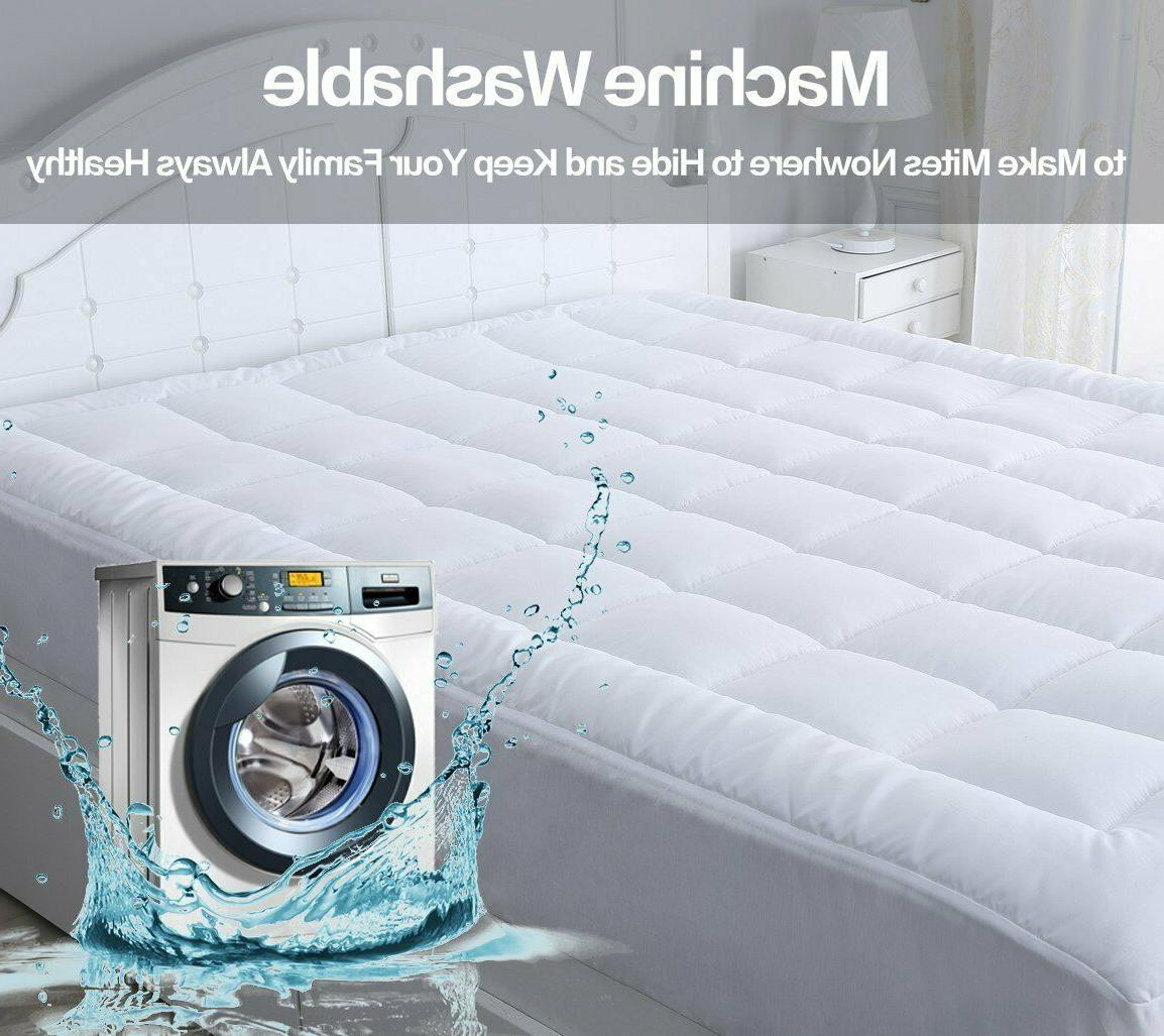 Mattress Pad Cover King Size Thick Luxury
