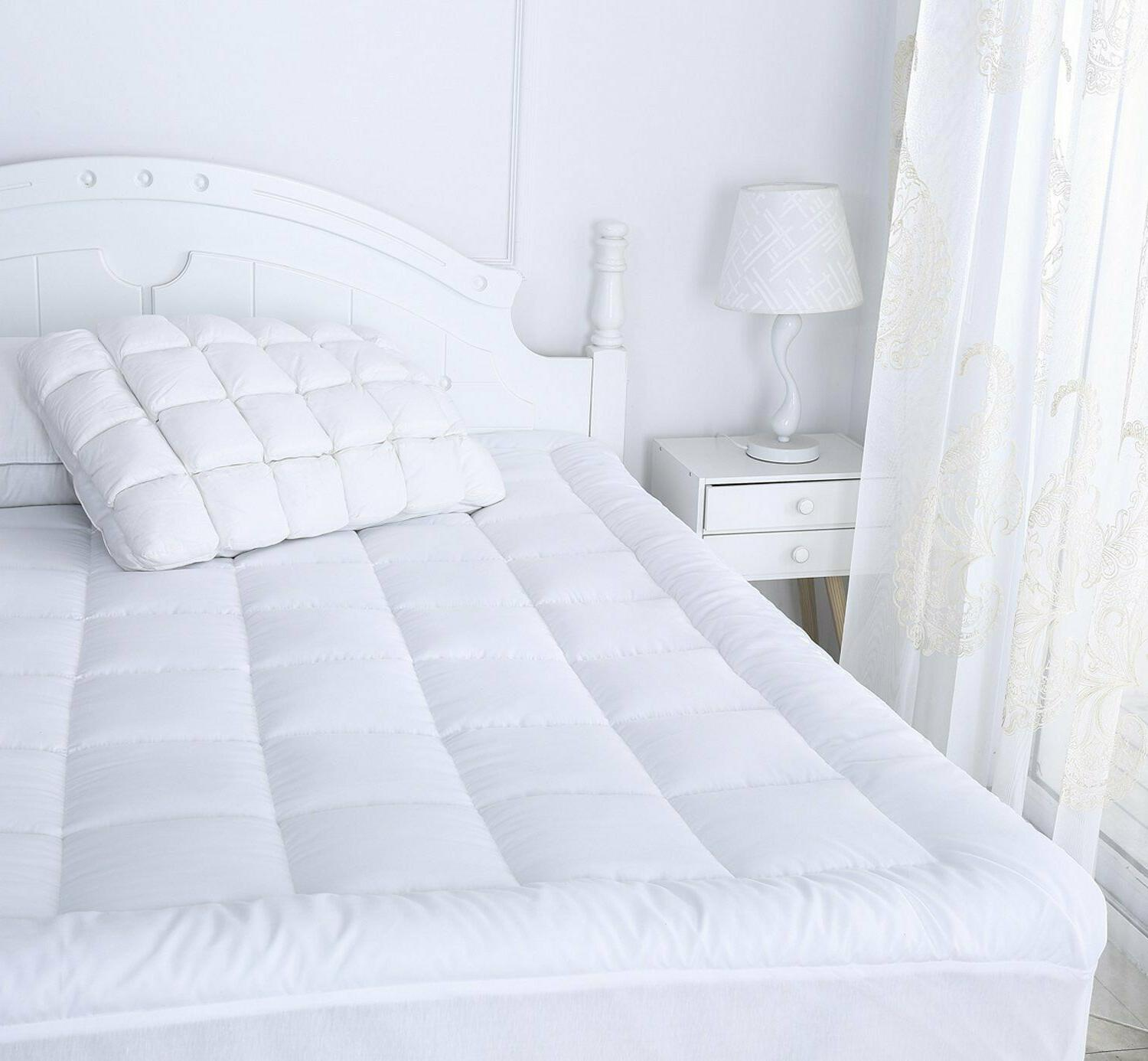 Mattress Cover Size Pillow Topper Thick Bed