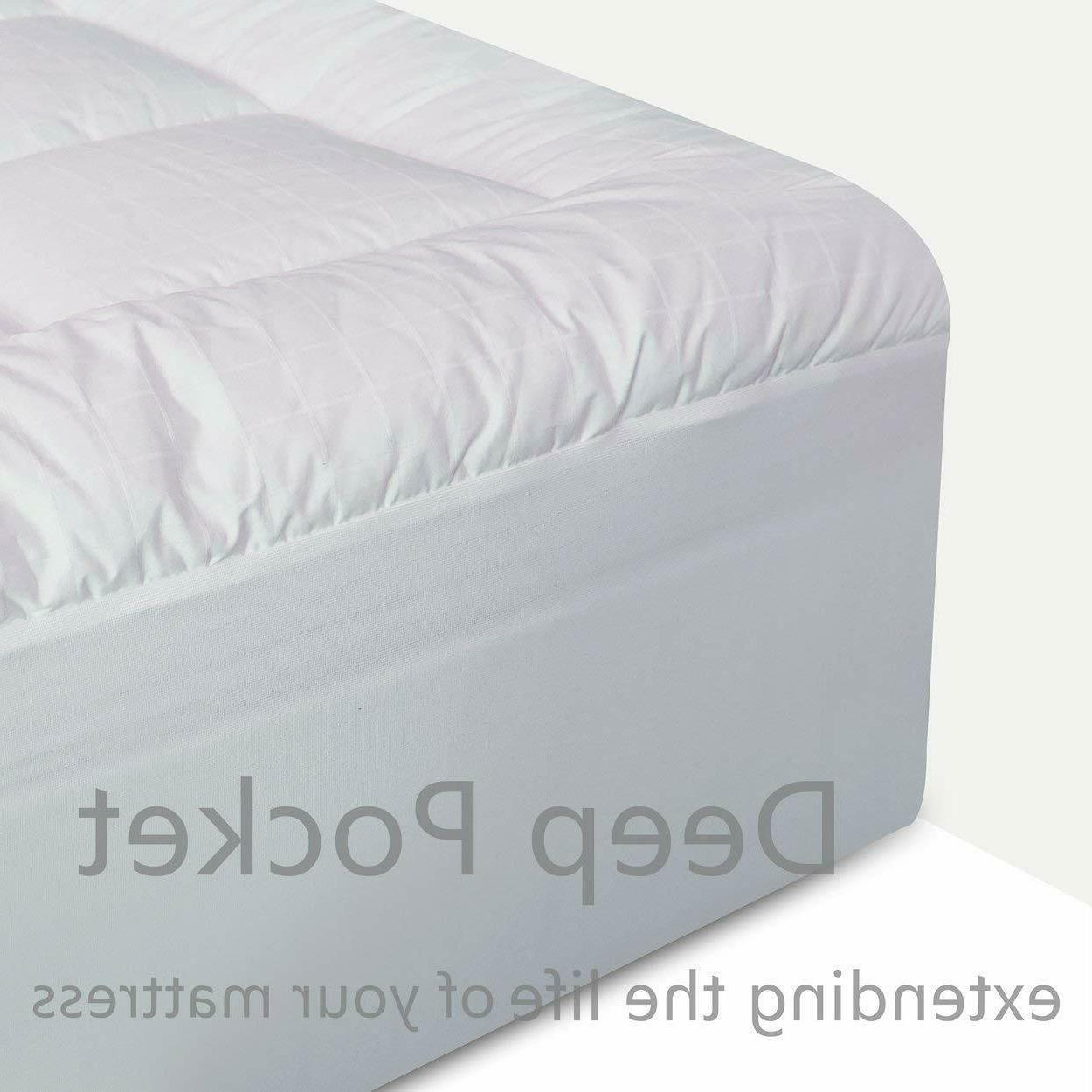 Mattress Pad Soft 300TC Top Hypoallergenic Topper