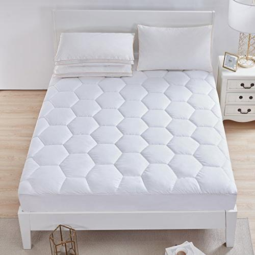 Size- Hypoallergenic Down Alternative Luxury Mattress Soft Deep for and Home