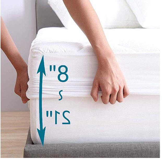 "Mattress Size-Overfilled Cotton Cover with 18"" Deep"