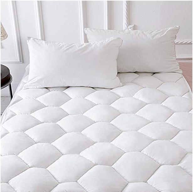 mattress pad queen size overfilled cotton cover