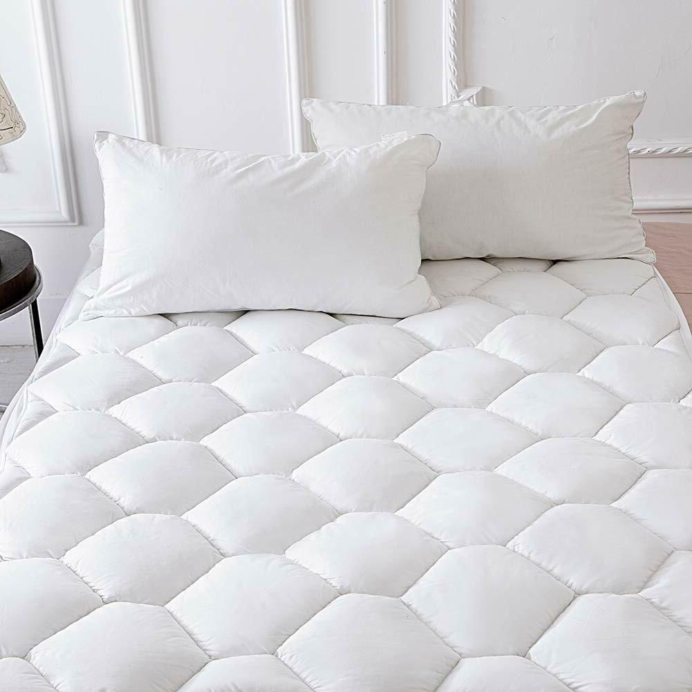 mattress pad topper queen size overfilled cotton