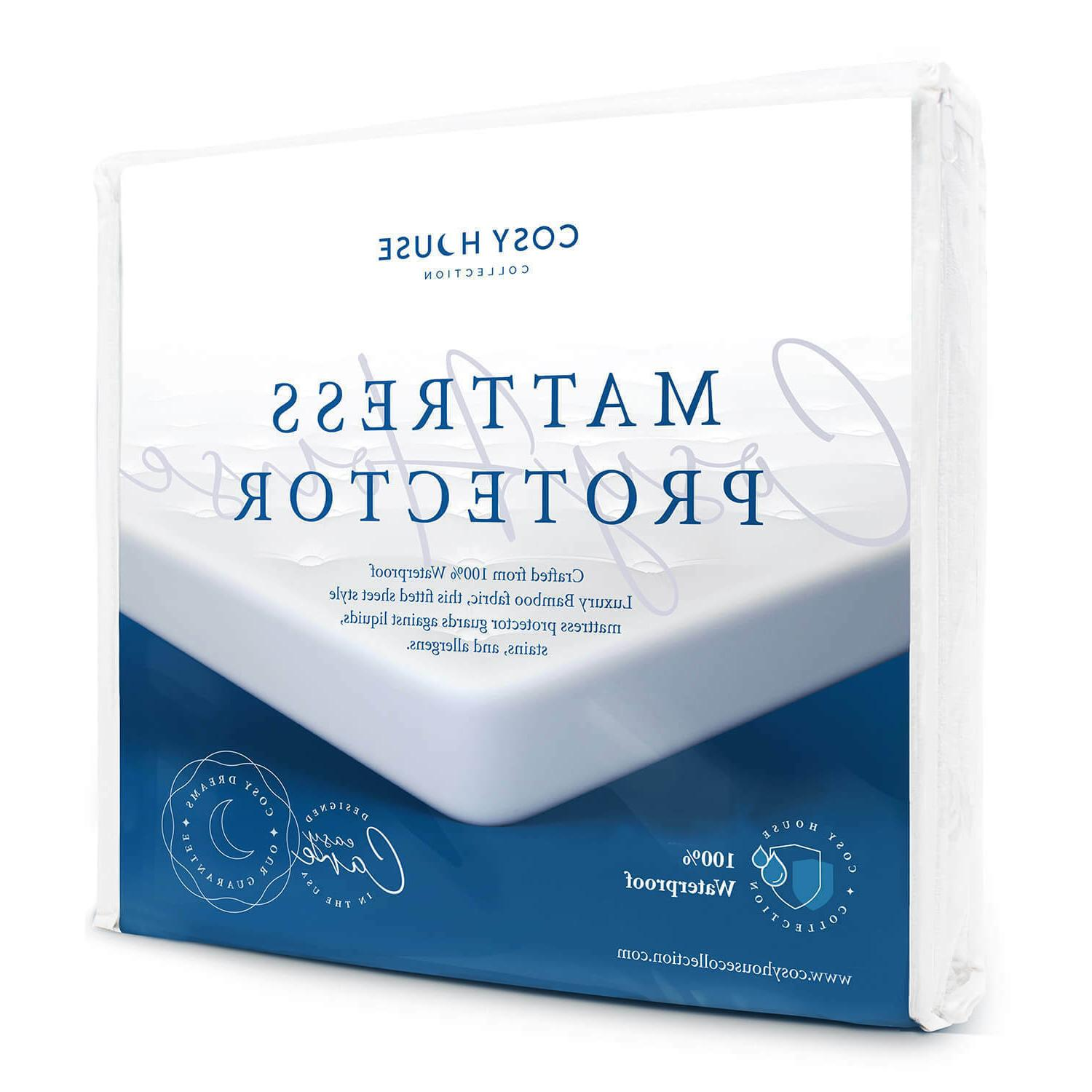 mattress protector waterproof luxury bamboo hypoallergenic f