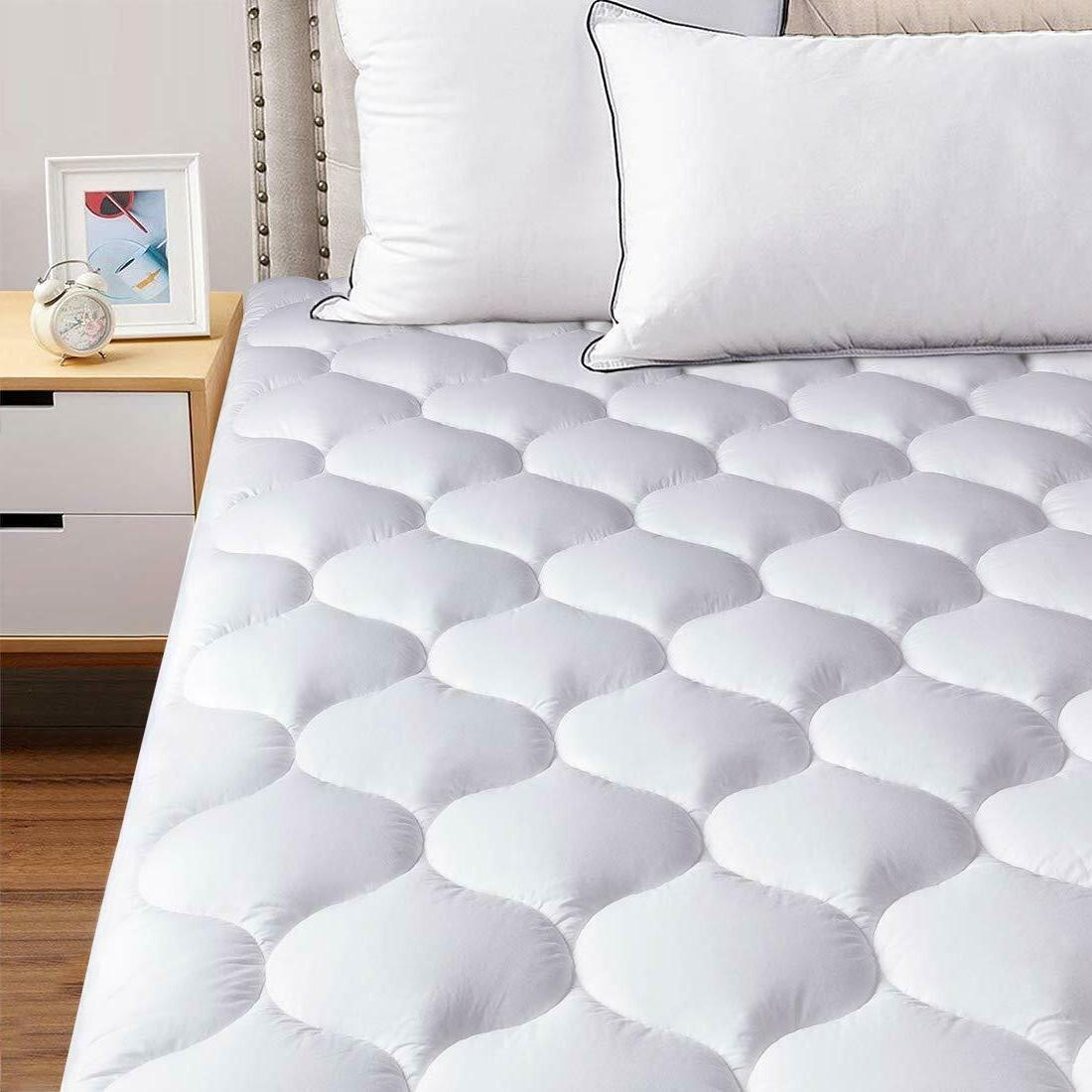 Mattress Topper Cover Soft Breathable Hypoallergenic Cooling