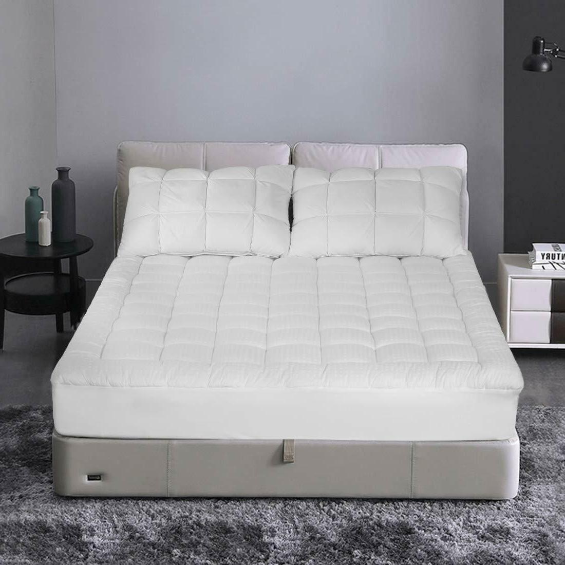 Queen Mattress Top Cooling Quilted Pad Cover Cotton 21