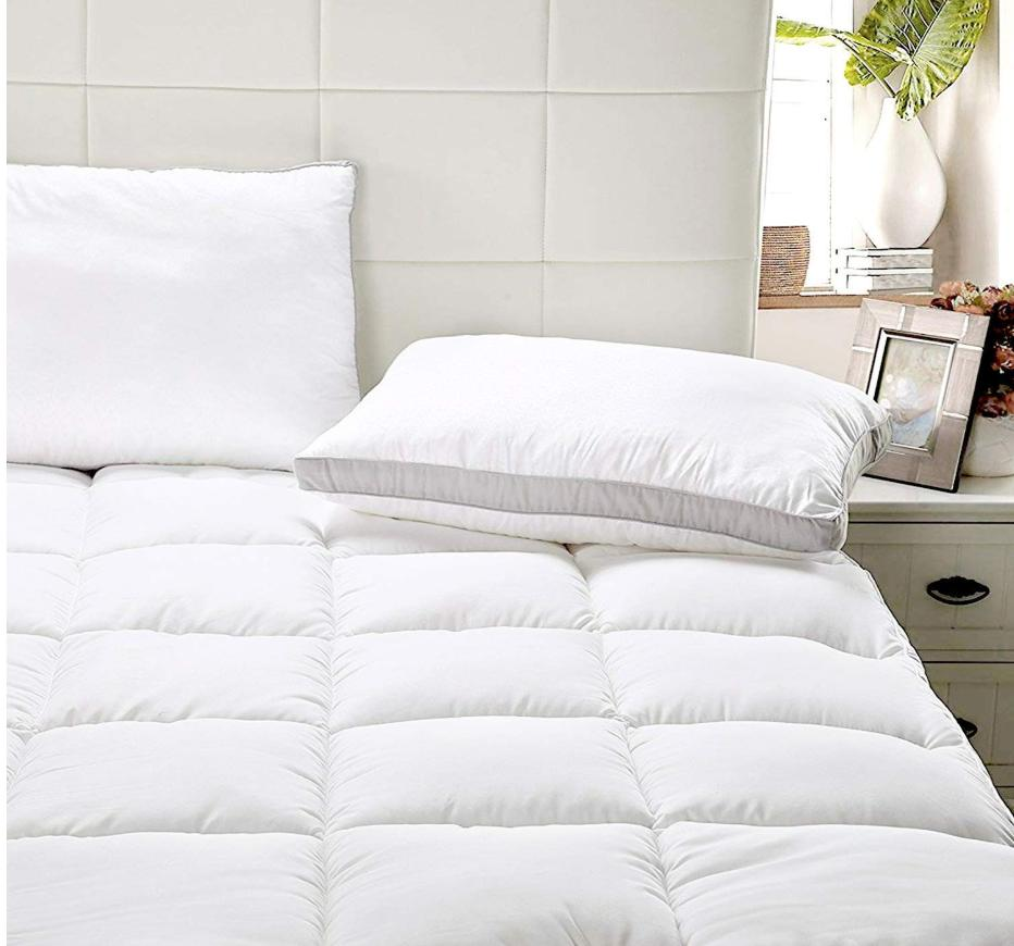"""Mattress Topper Cover Size Soft Pad Protector 15"""" Plush"""