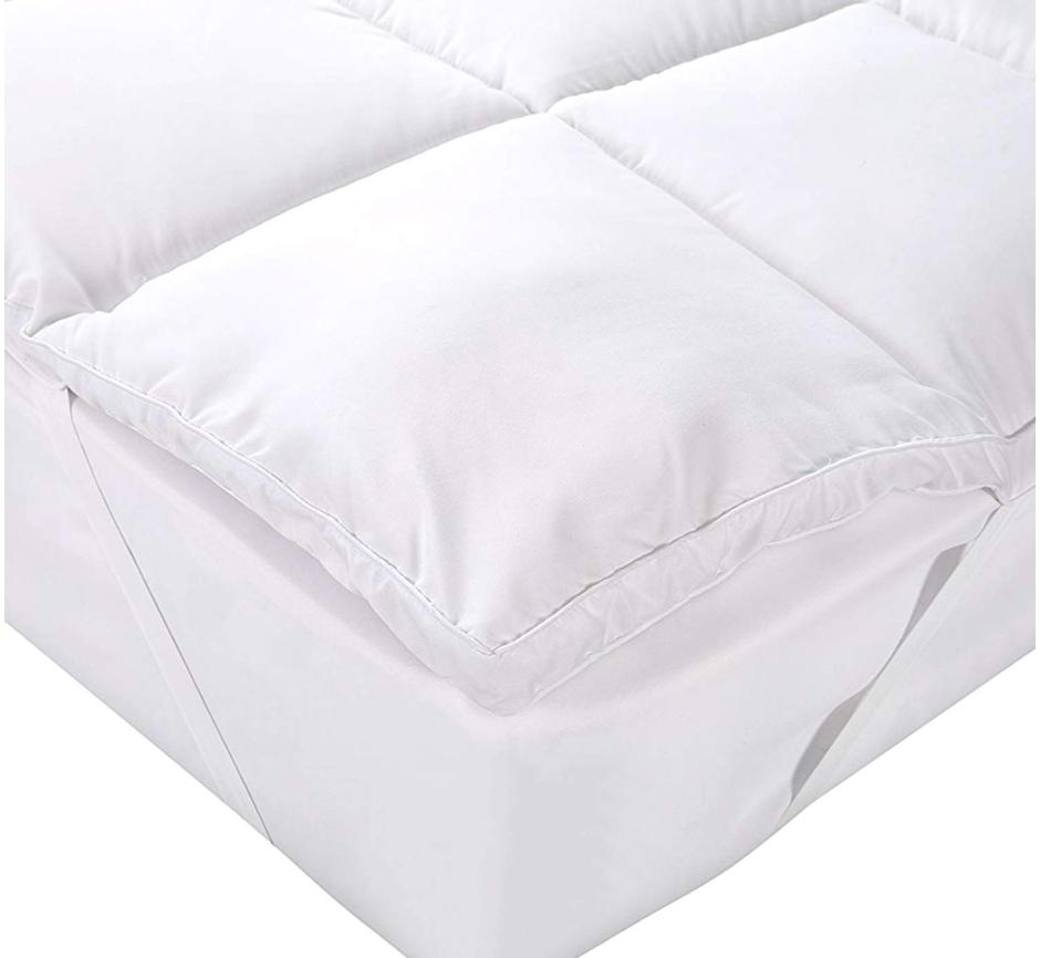 """Mattress Topper Cover Size Pad Protector 15"""" Deep Pocket Plush"""