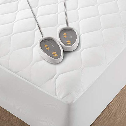 Beautyrest - Heated Mattress Pad Cal King Technology - Electric Deep Pocket - White - Two Heat