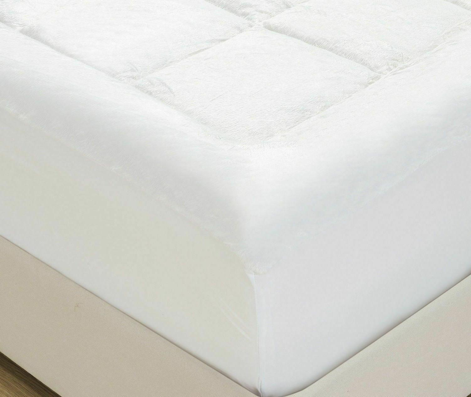 Mellanni Microplush Pad, Soft Overfilled Fitted Cover