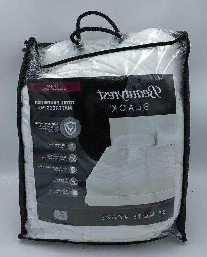 NEW BEAUTYREST BLACK TOTAL PROTECTION MATTRESS PAD FREE SHIP
