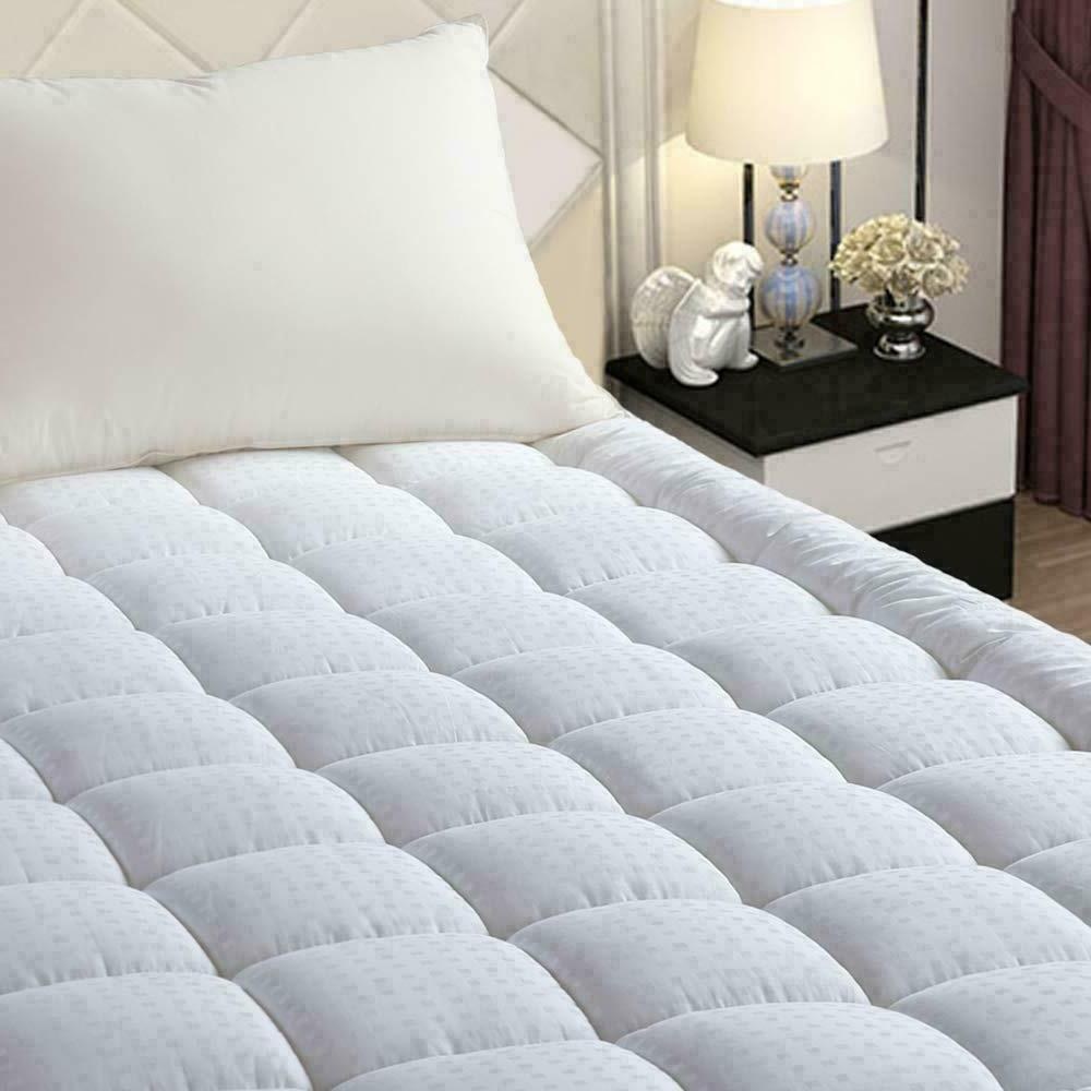 pillow top mattress cover king size bed
