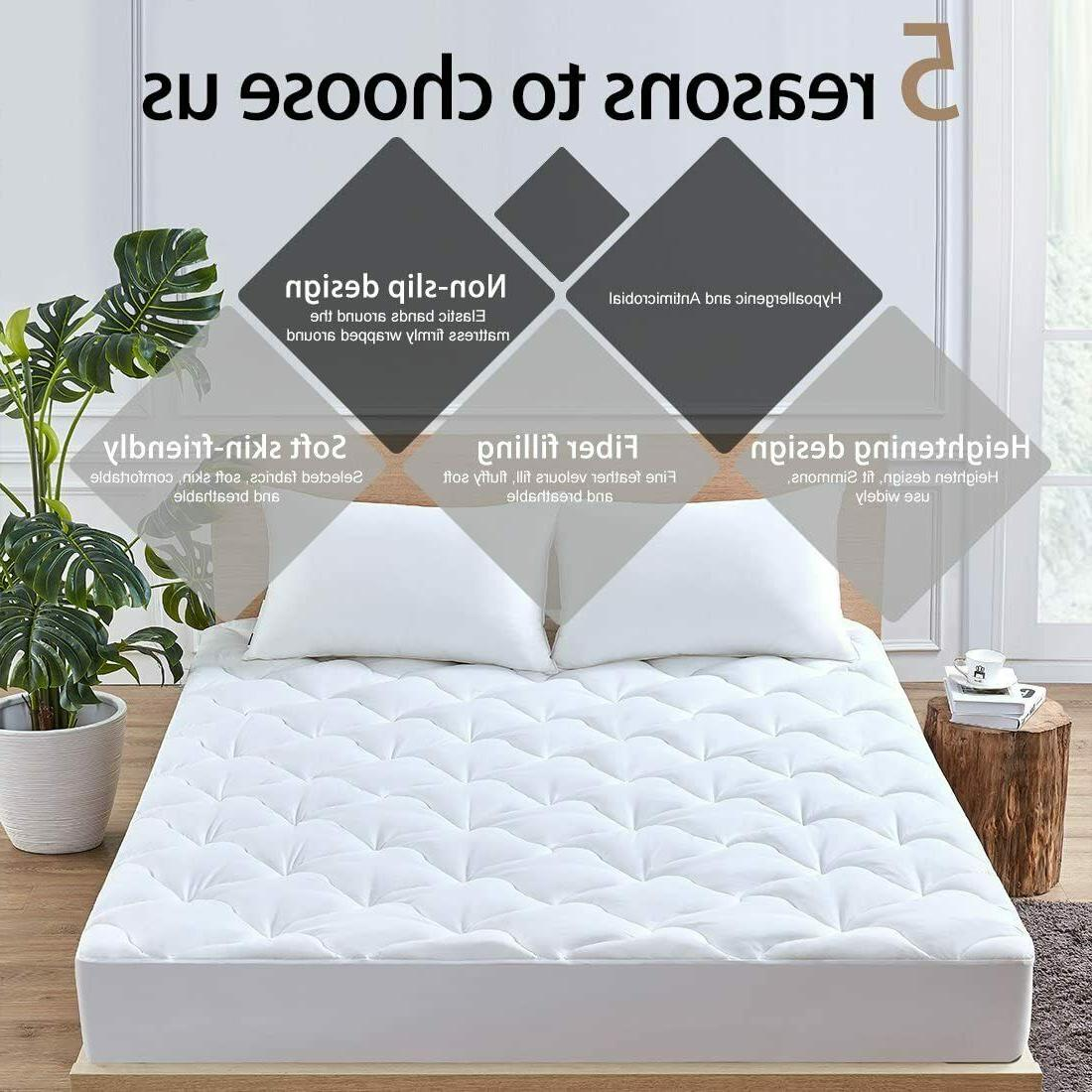 Pillow Queen Bed Topper Pad