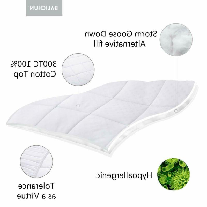 Balichun Pillowtop Pad Cover Cotton Alternative