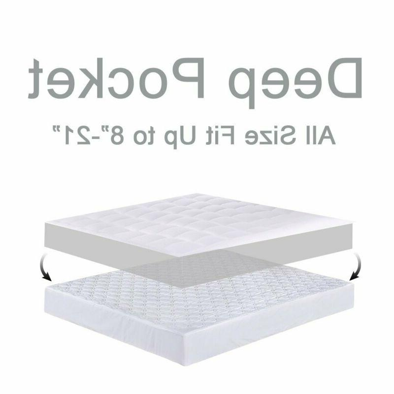 Balichun Pillowtop Pad 300TC Cotton Alternative Fi