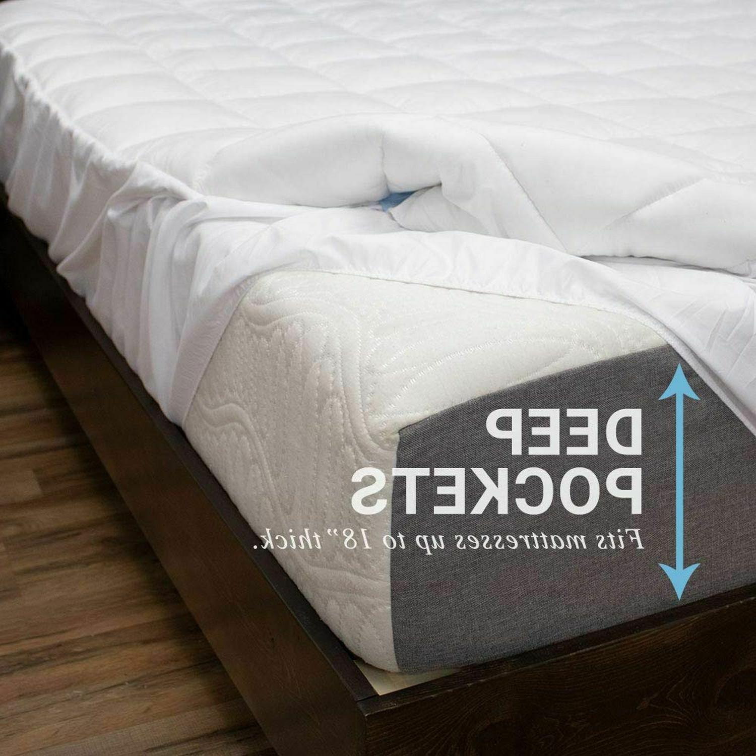 eLuxurySupply Pillowtop Pad Cover 18'' Topper