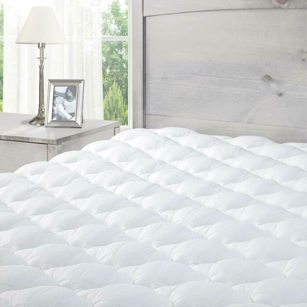 pillowtop mattress pad with fitted skirt twin